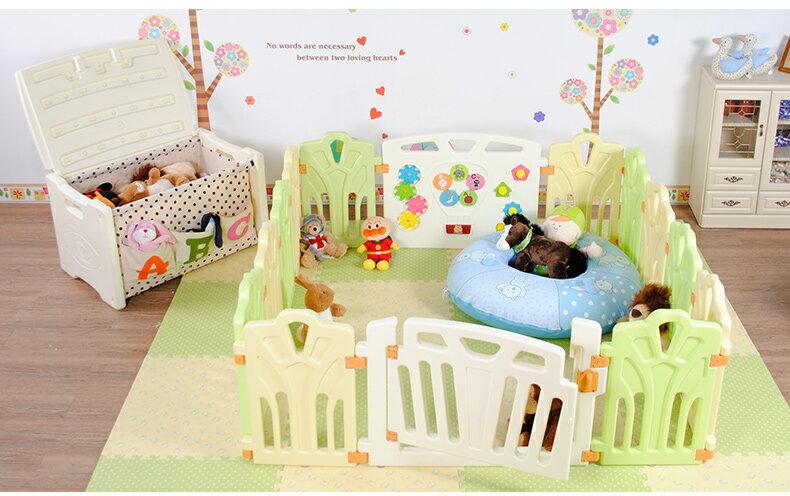 十二色童話 安全圍欄 遊戲圍欄 嬰兒護欄 寶寶柵欄 16片(14小+2大 )