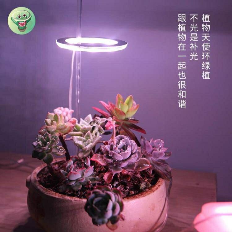 植物補光燈 植物補光燈全光譜led仿太陽燈上色室內家用usb食蟲植物多肉補光.