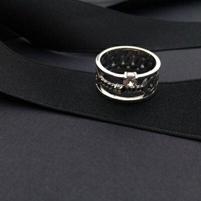 ~925純銀戒指鑲鑽銀飾~高雅 奢華迷人生日情人節 女飾品73ic24~ ~~米蘭 ~