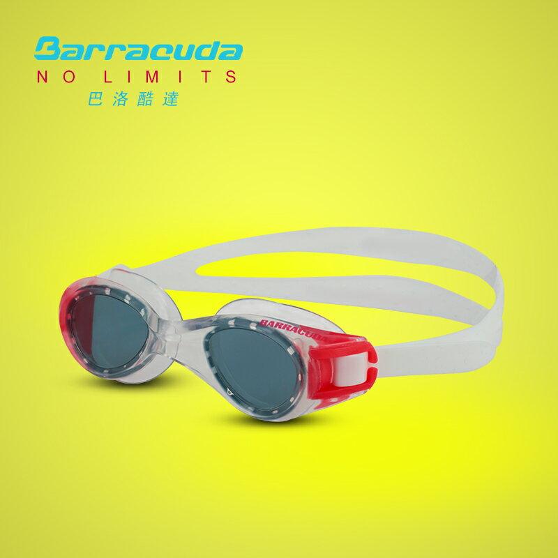 美國巴洛酷達Barracuda6-12歲青少年專業訓練系列抗UV防霧泳鏡-TITANIUM JR#30920 2