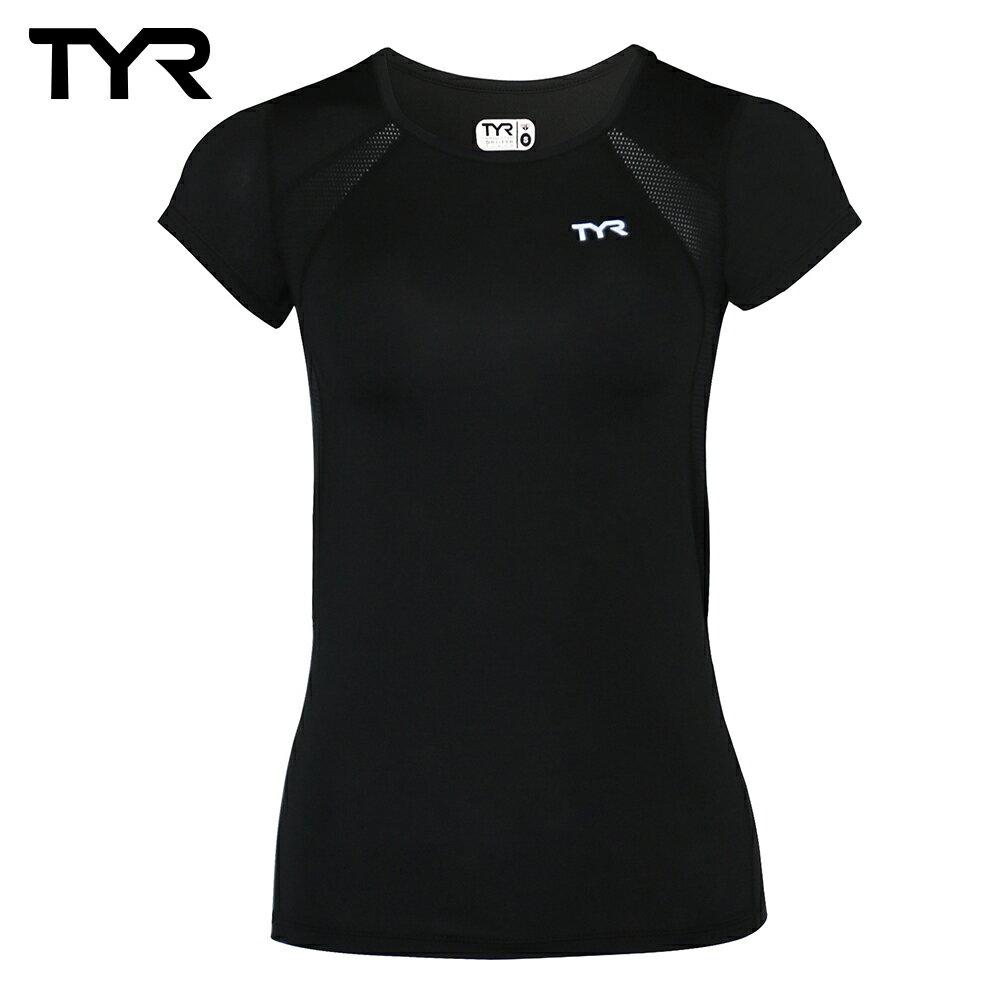 美國TYR 女款透氣排汗黑色短T Ladies Running Tee 台灣總代理 - 限時優惠好康折扣