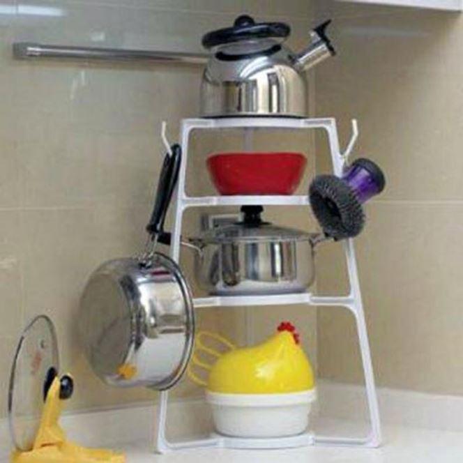 【省錢博士】廚房多功能鍋架多用途組合層架 / 簡易廚具收納架 159元