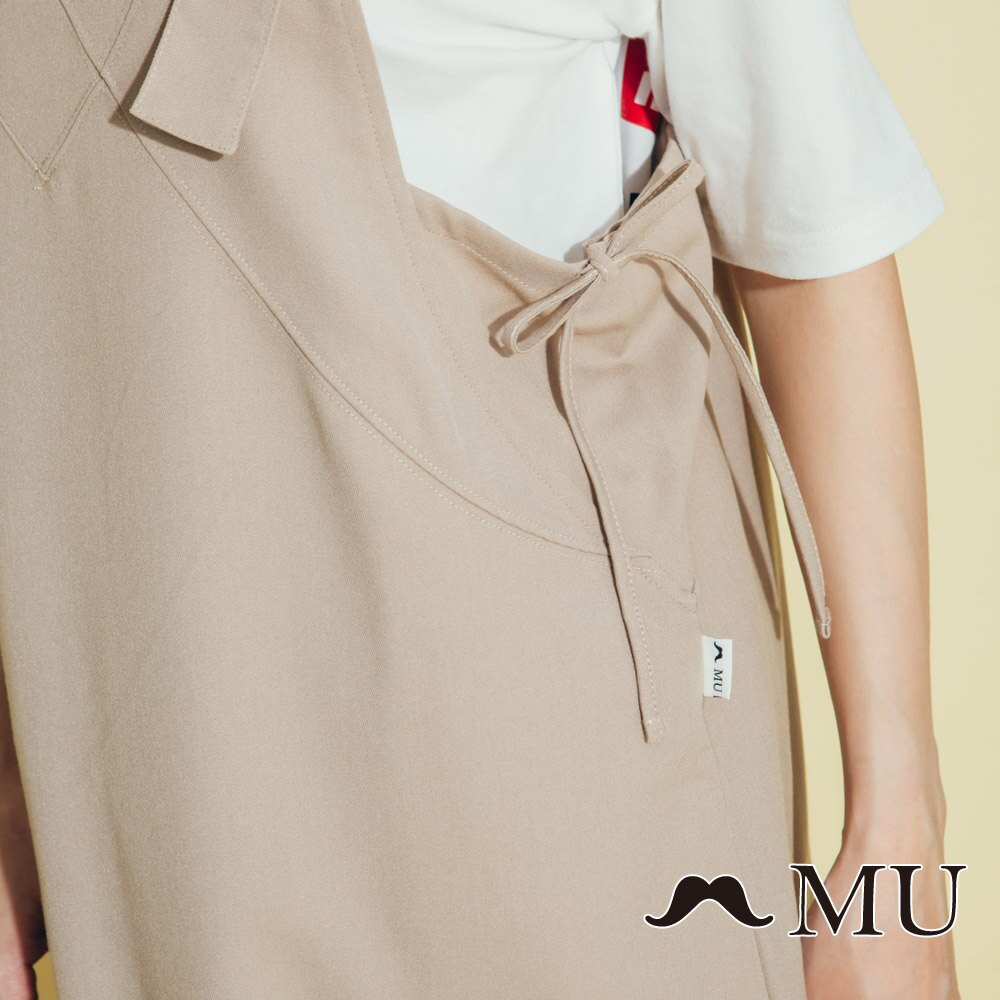 【MU】側綁蝴蝶結吊帶長裙(2色)8317161 4