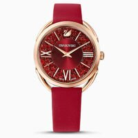 Swarovski 施華洛世奇 Crystalline Glam 手錶 5519219 優雅大方時尚女錶 /紅*玫瑰金 35 mm-大高雄鐘錶城-流行女裝