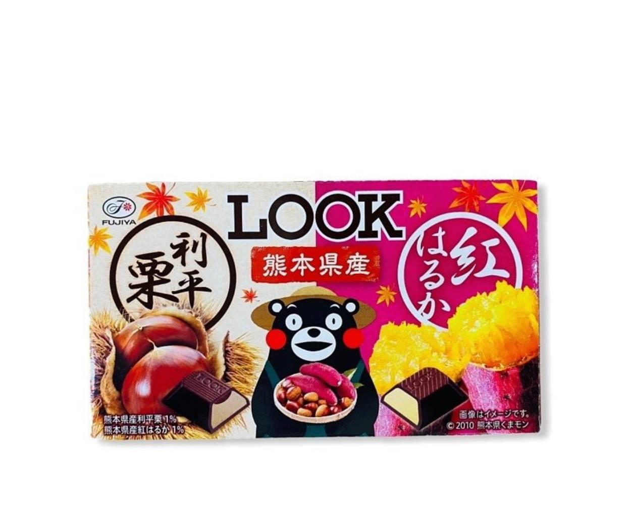 配菓配菓 PECOPECO FUJIYA不二家 LOOK熊本熊栗子地瓜雙味巧克力 44g