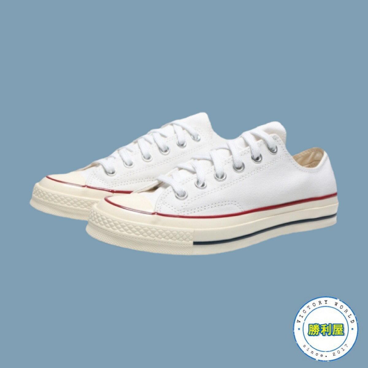 【滿額↘現折$200】Converse Chuck 70s All Star 男鞋 女鞋 休閒鞋 帆布鞋 低筒 白 全白 復古 1970 情侶鞋 經典款 168505C【勝利屋】