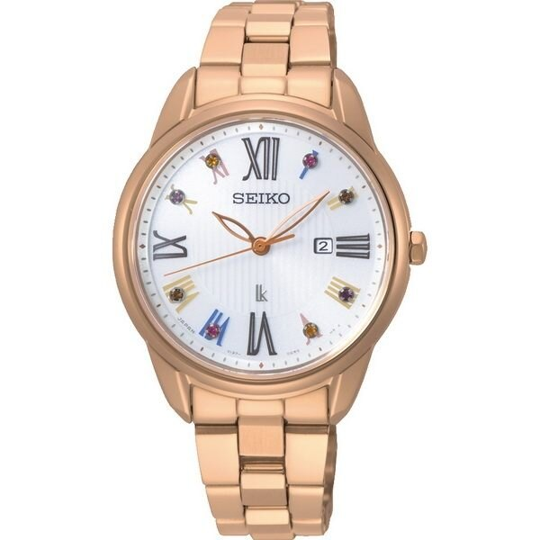 Seiko 精工錶 V137-0DC0G(SUT368J1)LUKIA耶誕限量花漾時光太陽能腕錶 / 玫瑰金 33mm - 限時優惠好康折扣