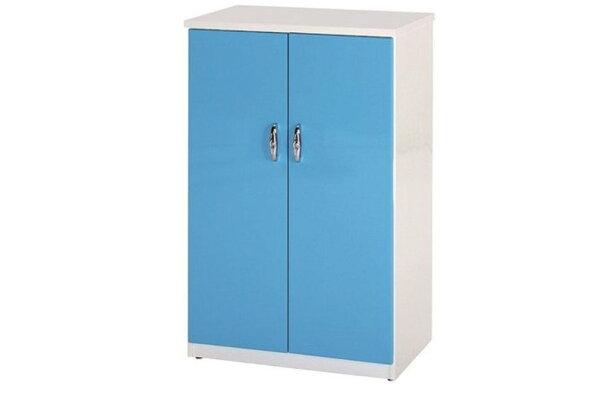 石川家居:【石川家居】853-07(藍白色)鞋櫃(CT-308)#訂製預購款式#環保塑鋼P無毒防霉易清潔