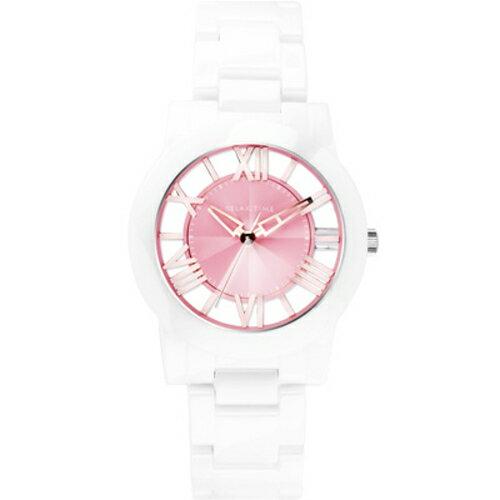 RELAX TIME/美麗佳人鏤空陶瓷腕錶-黑X玫瑰金(RT-53-8)