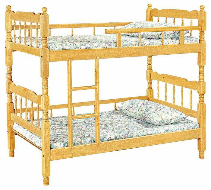 【尚品家具】HY-A196-04 白木3尺方柱雙層床(單護欄)