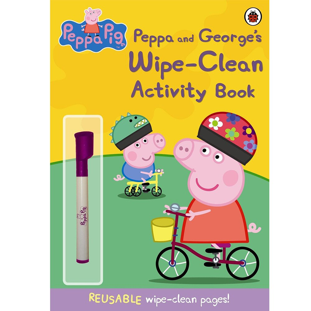 Peppa Pig:Peppa And George's Wipe-Clean Activity Book 佩佩豬與喬治豬的活動書