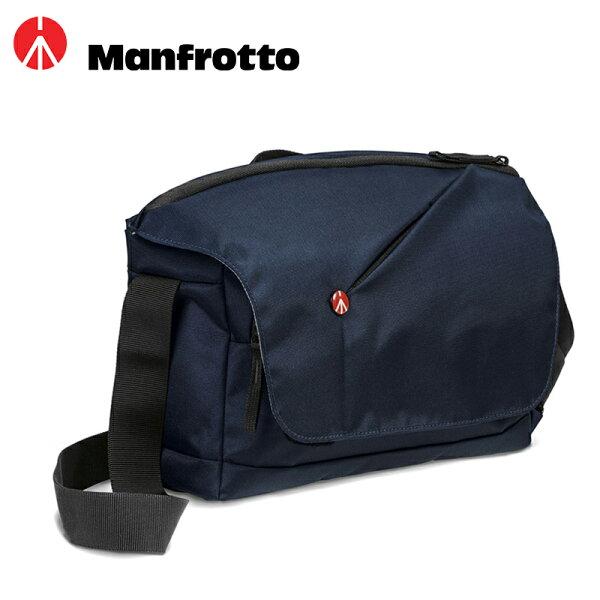 ◎相機專家◎Manfrotto開拓者微單眼郵差包夜空藍SPARK空拍機包MBNX-M-BU公司貨