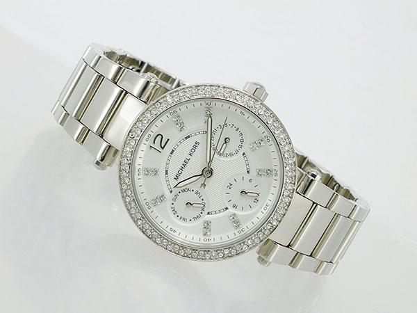 美國Outlet正品代購 MichaelKors MK  銀色陶瓷 水鑽 三環 手錶 腕錶 MK5615 4