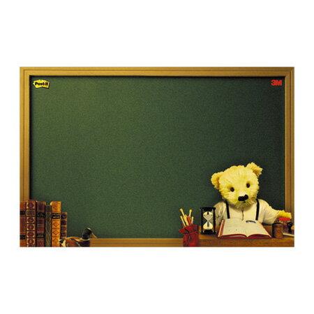 3M 利貼可再貼備忘板-熊熊系列/558M-B  長250x寬180mm