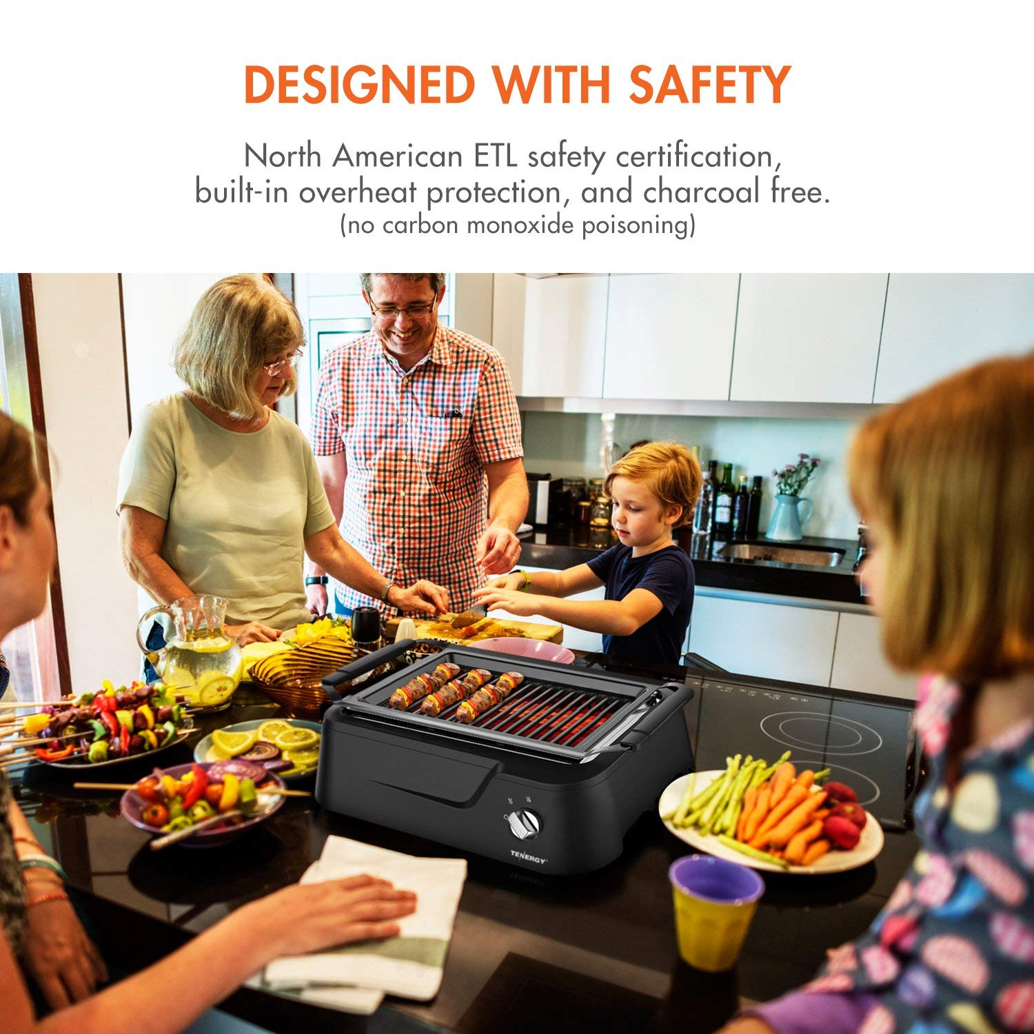 Tenergy: Tenergy Redigrill Smokeless Infrared Grill, Indoor Grill ...
