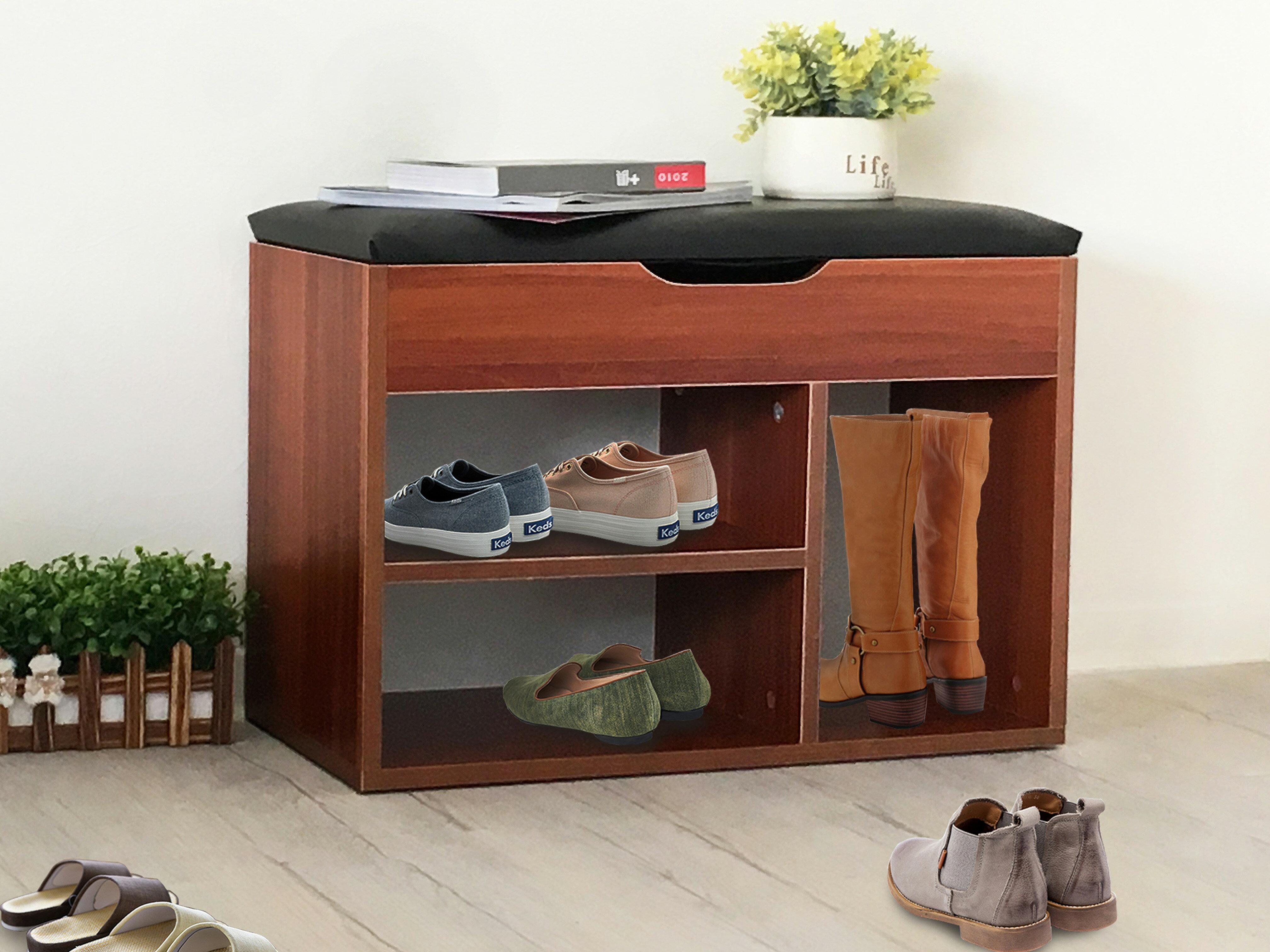 【新生活家具】 栗色 美式 簡約 收納櫃 多功能櫃 鞋櫃 玄關櫃 穿鞋櫃 《艾米》 非 H&D ikea 宜家