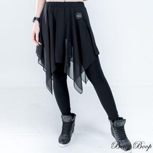 褲裙 Betty Boop 假兩件不規則雪紡彈性內搭褲裙