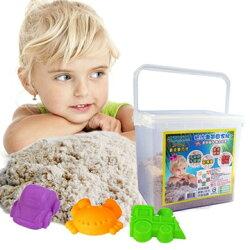 翻滾動力沙1KG外出組 含1KG沙 收納盒 玩沙模具3件組