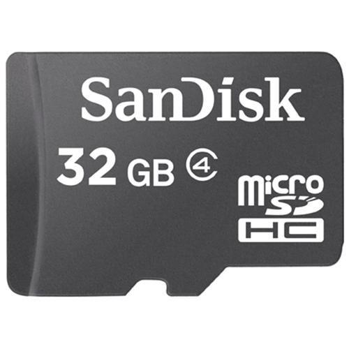 SanDisk 32GB microSDHC Class 4 32G microSD High Capacity micro SDHC C4 TF Flash Memory Card SDSDQ-032G + SD Adapter 1
