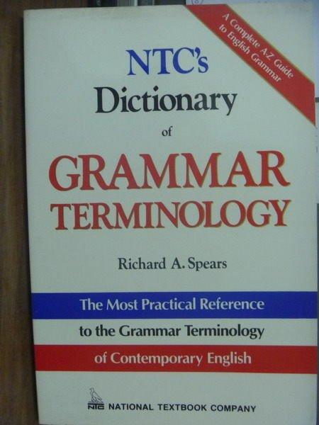 【書寶二手書T2/字典_QXS】NTC's Dictionary of…TERMINOLOGY