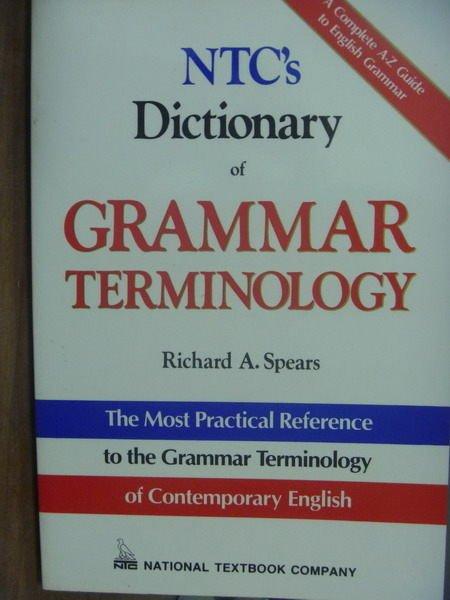 【書寶二手書T8/字典_QXU】NTC's Dictionary of…TERMINOLOGY