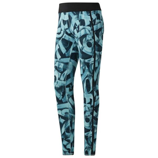 REEBOKCROSSFITPOKRASLEGGING女裝長褲緊身休閒慢跑訓練透氣舒適藍黑【運動世界】CD5774