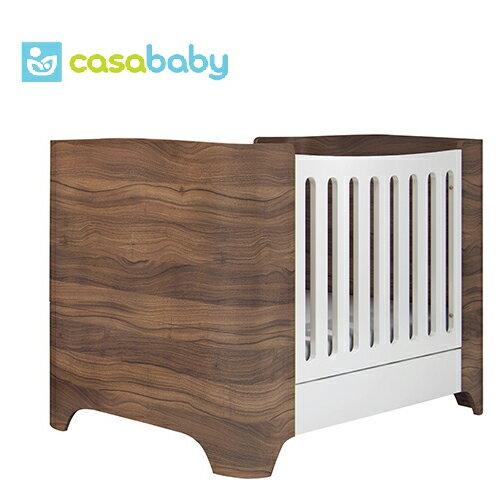 【贈乳膠床墊+泡棉床墊】希臘【Casababy】Harmony 三合一成長嬰兒床 - 深咖啡色 0