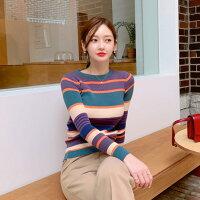 🇰🇷正韓,韓國直追🇰🇷合身條紋針織上衣-她很漂亮 正韓女裝-流行女裝