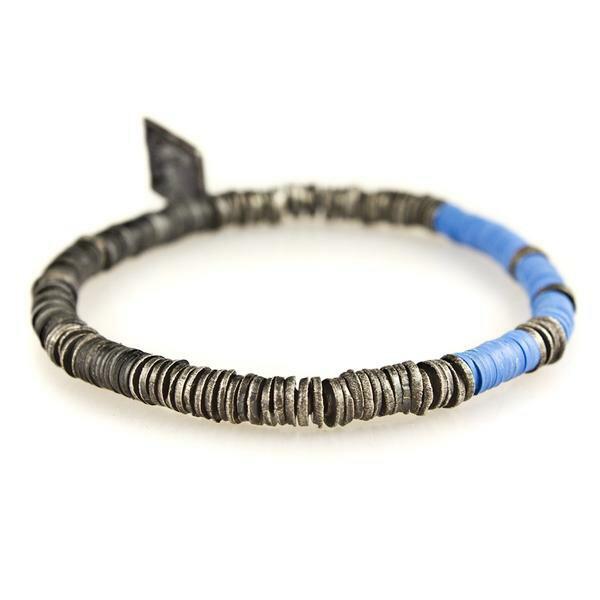 ~ ~~M.Cohen~非洲風藍色串珠彈性手環  MC~B~10751~SLV977020