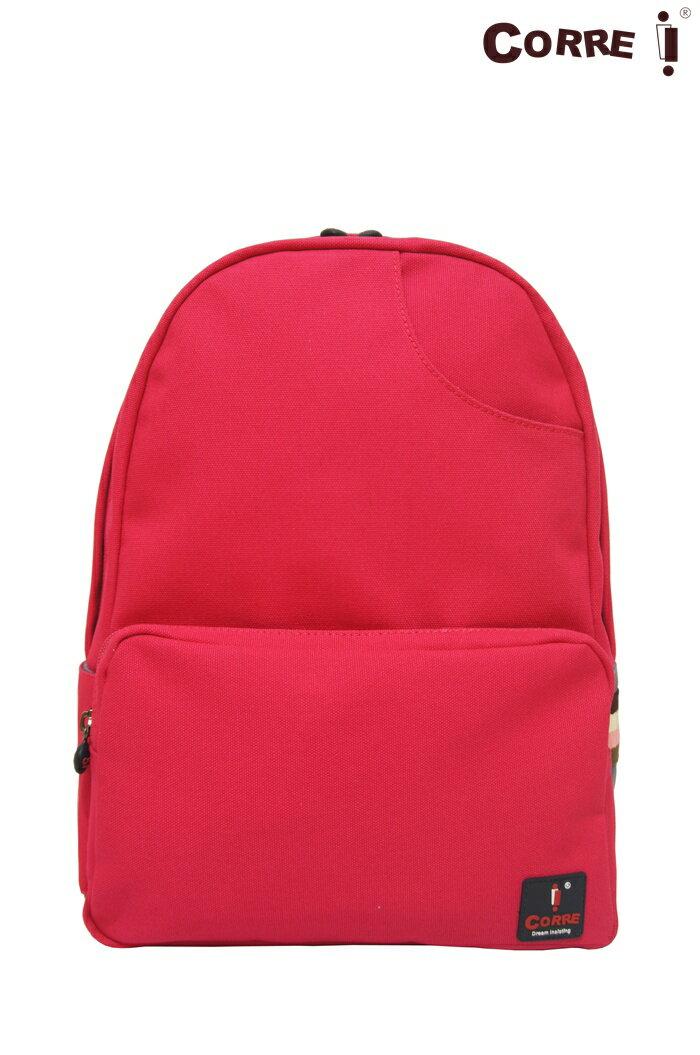 CORRE【CG71068】帆布經典後背包共四色 紅/藍/桃紅/橘 0