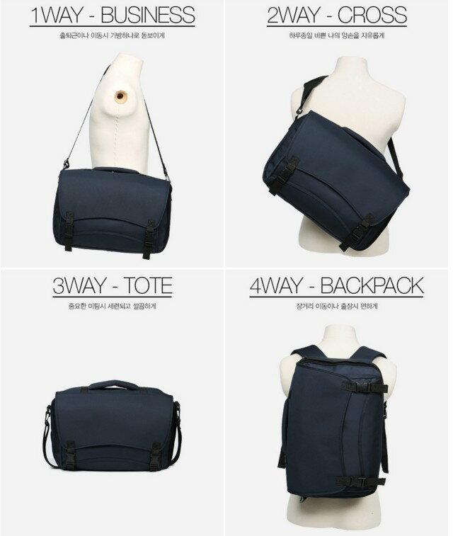 韓國4用包 後背 肩背 飛機包 託運包 功能筆電包 022-9729 2