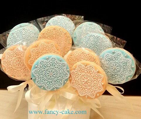 FANCY CAKE:精緻蕾絲造型餅乾棒棒糖