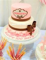 分享幸福的婚禮小物推薦喜糖_餅乾_伴手禮_糕點推薦6+8吋優雅裙襬雙層造型蛋糕 生日 婚禮 紀念