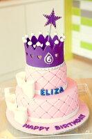 分享幸福的婚禮小物推薦喜糖_餅乾_伴手禮_糕點推薦6+8吋紫紅魔力雙層造型蛋糕 生日 婚禮 紀念 彌月 周歲