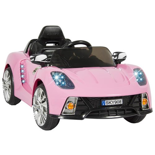 Best Choice Products 12V Kids Battery Powered Remote Control Electric RC Ride-On Car w/ LED Lights, MP3, AUX - Pink 0