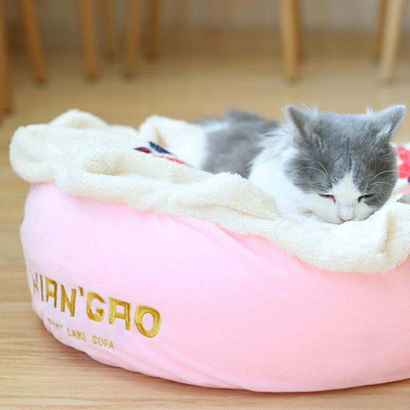奶油蛋糕深層睡眠床(莓果粉色 / 巧克力色) 4