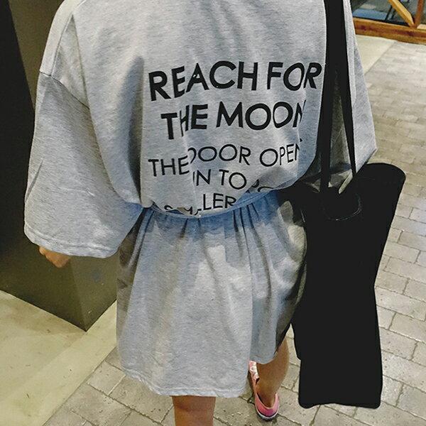 PSMall字母T恤裙~配腰帶連身裙洋裝【T470】