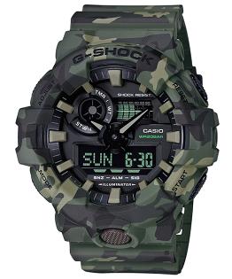 CASIOG-SHOCKGA-700CM-3A軍力迷彩流行雙顯腕錶53mm