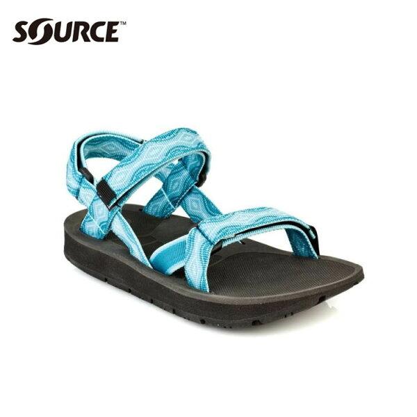 SOURCE女越野運動涼鞋Stream101022B5【夢幻藍】城市綠洲(織帶、輕量、快乾、抑菌)