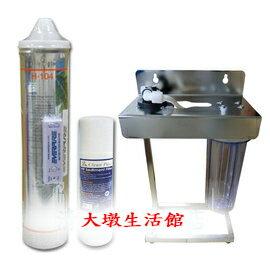 【大墩生活館】美國Everpure H104二道不銹鋼腳架型淨水器《生飲級》搭配NSF濾心+無鉛NSF鵝頸超值價3150元。