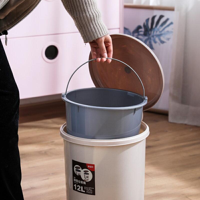 垃圾桶 宿舍腳踏式帶蓋垃圾桶筒家用衛生間客廳廚房創意有蓋腳踩廁所內桶