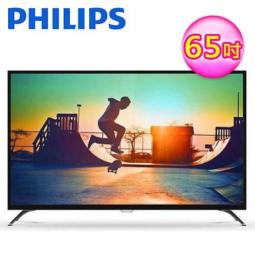 PHILIPS飛利浦65吋4K超纖薄智慧型LED顯示器65PUH6082