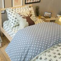 居家生活寢具推薦床包 被套 兩用被  單人床包組/雙人床包組  台灣製造 棉床本舖 [ 藍色星星法鬥 ] 好窩生活節。就在棉床本舖Annahome居家生活寢具推薦