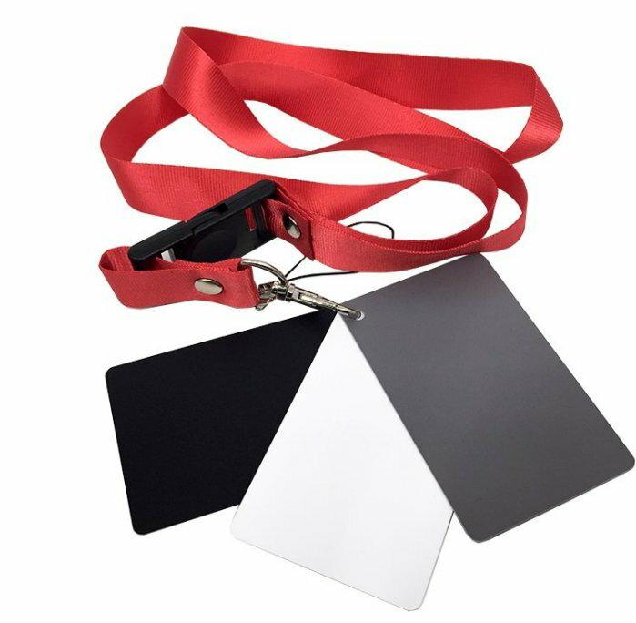 攝彩@三色灰卡專業 白平衡18度 灰卡 黑 白 灰 三色,精準曝光、防水、防刮、送帶子,方便攜帶。小號