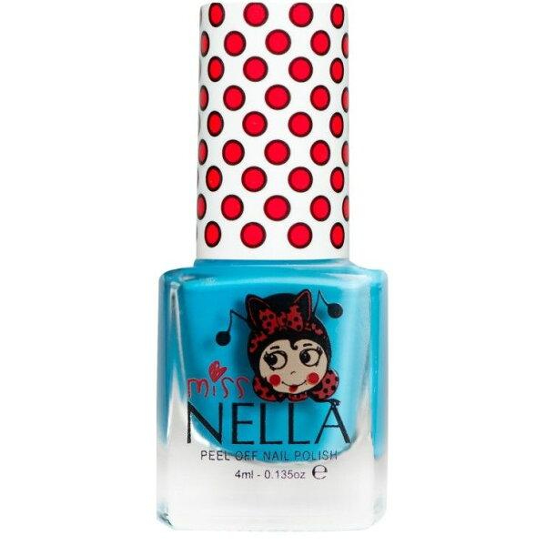 英國【MissNella】妮娜小姐水性可撕式安全指甲油4ml-美人魚藍MN01兒童指甲油