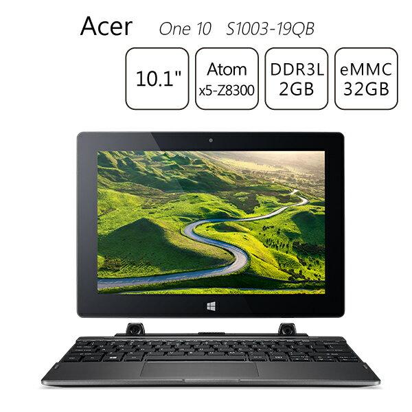 【送筆電包+滑鼠】Acer One 10 S1003-19QB 10.1吋變形平板筆電