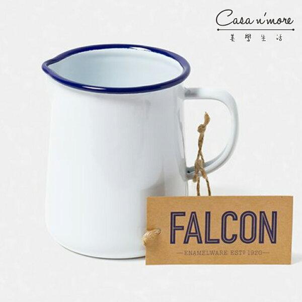 Falcon獵鷹琺瑯1品脫水壺水瓶水杯藍白