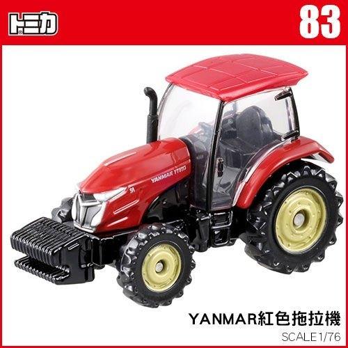 《TOMICA火柴盒小汽車》TM083 YANMAR紅色拖拉機