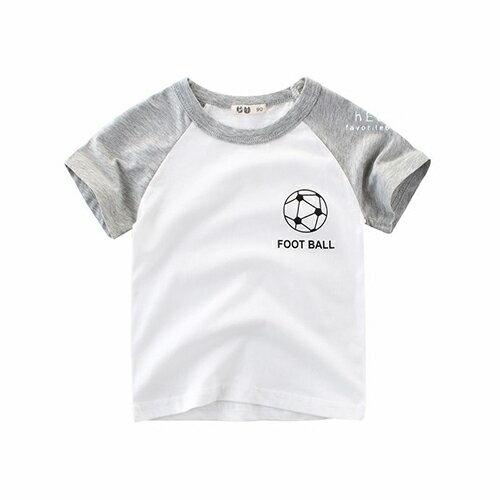 雙色棉感短袖T恤短袖足球T恤棉T童裝