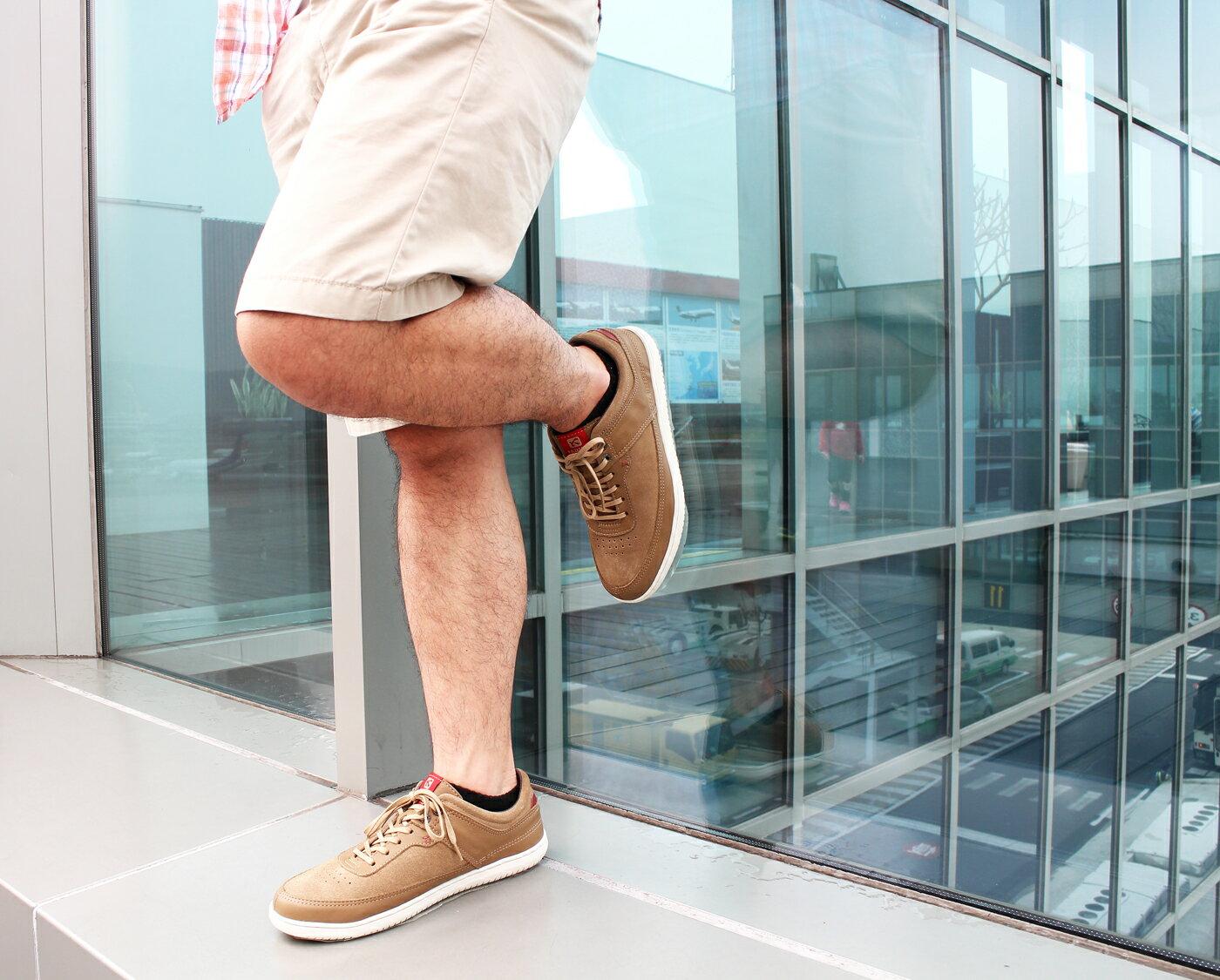 【KILDARE 85折】KILDARE 綁帶休閒鞋 淺咖啡 男 慢跑休閒 4